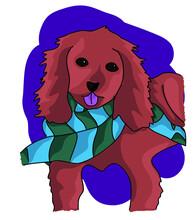 Vector Irish Setter Simple Dog Illustration