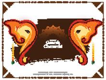 Decorative Happy Ganesh Chaturthi Traditional Hindu Festival Background