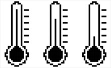 Thermometer Icon Pixel Art M_2108001