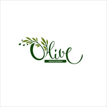 Light And Simple Olive Oil Logo With  Lettering Composition