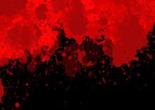 Blood Splattered Background For Halloween