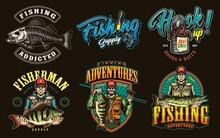 Colorful Vintage Fishing Prints