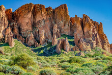 Desert Mountains In Spring