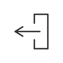 Left Minimal Line Icon.