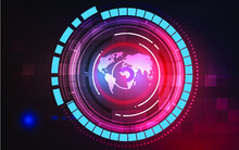 Digital Futuristic Technology Background