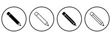 Pencil Icon, Pencil Vector, Pencil Symbol Illustrations
