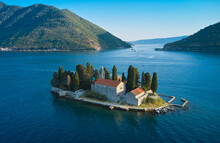 Monastery Of St. George On A Secluded Island In The Adriatic Sea In Montenegro
