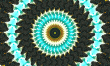 Ornamental Decorative Kaleidoscope Movement Geometric Circle, Abstract Floral Kaleidoscope, Geometric Ethnic Seamless Pattern, Intricate Folk Background