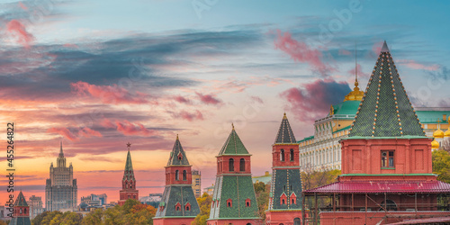 Fotografie, Obraz Red Square and the Kremlin in Moscow.
