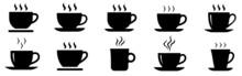 Coffee Cup Icons Set. Coffee Tea Cup Symbol. Vector