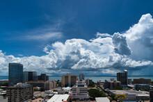 Storm Clouds Over City Skyline, Darwin, Northern Territory, Australia