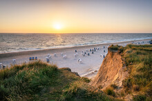"""Sunset At The """"Rotes Kliff"""" (red Cliff) Near Kampen, Sylt, Schleswig-Holstein, Germany"""