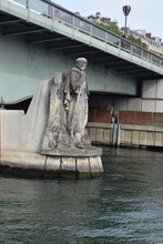 Zouave Statue Of The Alma Bridge In Paris, France.