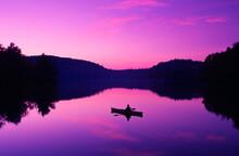 Kayaking On Bradley Lake, Andover, NH USA