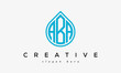 Water drop letter ABA logo initial template vector