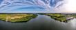 Mikołajki, Jezioro Tałty na Mazurach w Polsce z lotu ptaka