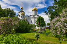 Boris And Gleb Cathedral In The Monastery Of Boris And Gleb On A Sunny, Warm Summer Day. Dmitrov, Moscow Region, Russia-July 2021
