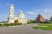 Exterior Of The Orthodox Church Of The Exaltation Of The Holy Cross. Founded In The 18th Century. Kolomna, Russia