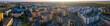 Szeroka, letnia panorama osiedla Manhattan, miasto Gorzów Wielkopolski z lotu ptaka