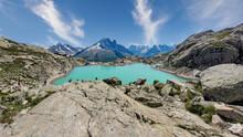 Beautiful Small Lake In The Mountains - Chamonix Mt Blanc White Lake