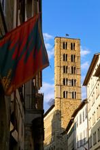 Arezzo Tuscany Italy. Santa Maria Della Pieve Church