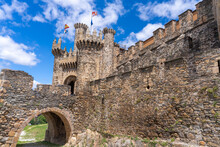 Ruins Of The Templar Castle Of Ponferrada Along The The Old Way Of St. James, Castille And Leon, Spain