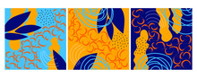 Set Of Colorful Textures For Decoration And Printing. Set Of Patterns With Pastel Spots And Lines. Doodle Illustrations. Set Of Posters. Abstract Art, Contemporary Art.