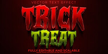 Trick Or Treat Text Effect, Editable Pumpkin And Halloween Text Style