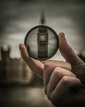 Big Ben Bridge Through Magnify Glass