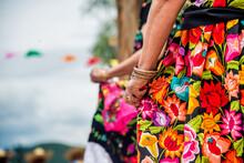 Two Women Wearing Chiapas Dresses