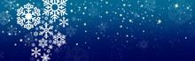 Christmas Snow Banner , Stars Background