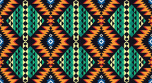 Ikat Geometric Folklore Ornament. Tribal Ethnic Vector Texture.for Background,fabric,wrapping,clothing,wallpaper,Batik,carpet,embroidery Style .Vector EPS 10.