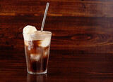 american ice cream float with cola