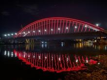 City Harbour Bridge At Night. Bridge At Night. City Harbour Bridge.