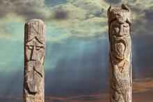 A Pagan Wooden Idols.