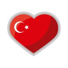Turkey Flag In Heart