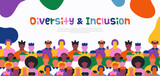 Diversity Inclusion people crowd web template