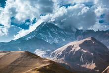 A View Of Georgian Mountains On The Way To Kazbek