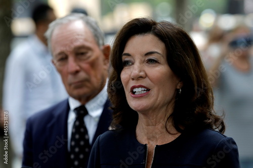 New York Governor Hochul and former Mayor Bloomberg visit