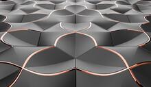 Elegance Geometry. Black And Orange Color.