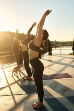 Girls In Yoga Knead Their Body