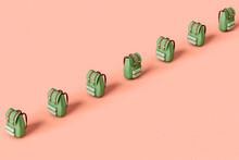 Green Adventurer's Backpack  Crossing The Frame