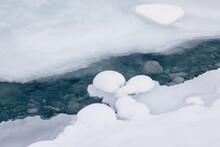 Winter Frozen Stream