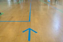 Tape Arrow On Floor