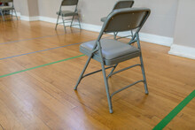 Chairs In Vaccination Room During Pandemic