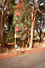 A School Bus Stop In Country Australia