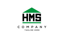 HMS Three Letter House For Real Estate Logo Design