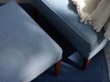 Blue Bench At Sofa
