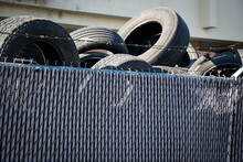 Old Worn Discarded Tires