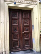 Medieval Front Door In Prague, Czech Republic